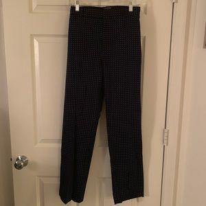 Black and White Polka Dot Work Pants
